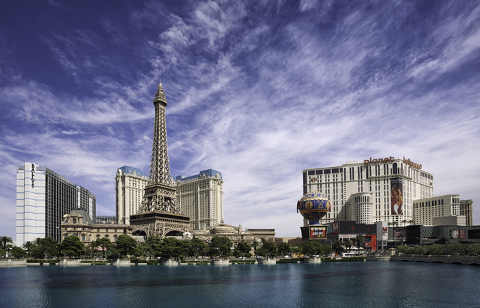 View of the Las Vegas strip where the keynote speakers for HR Tech will convene.