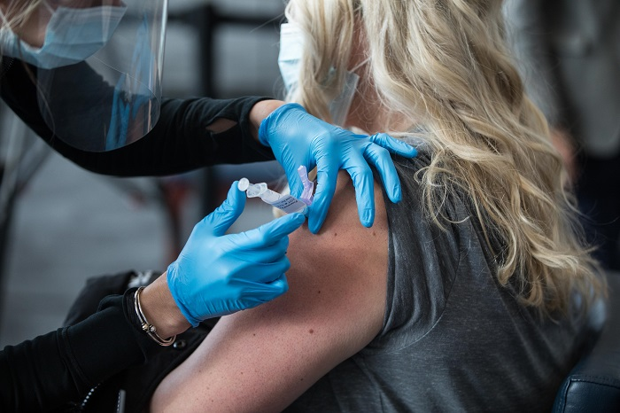 Gillette Stadium In Massachusetts Opens As Mass Vaccination Site